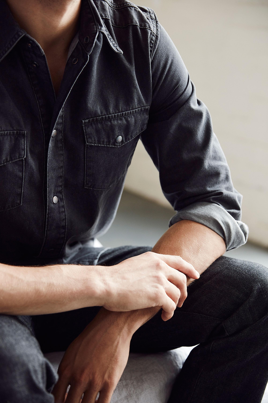 MEN: Tex Shirt Grey (MSH9003.R.12)