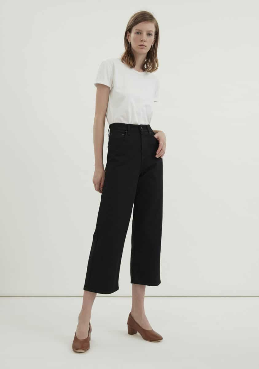 AUBREY Cropped Jean – Rigid Black