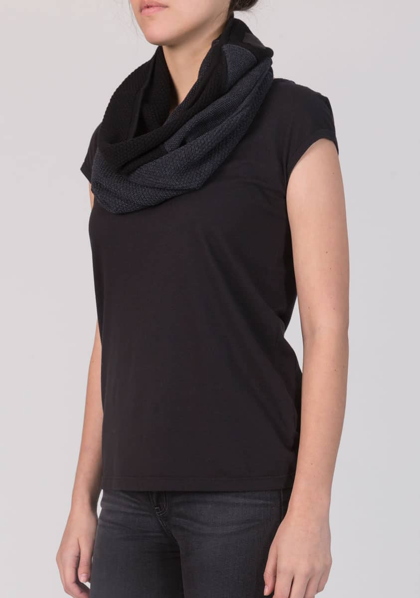 LONNIE Scarf-Charcoal Ink