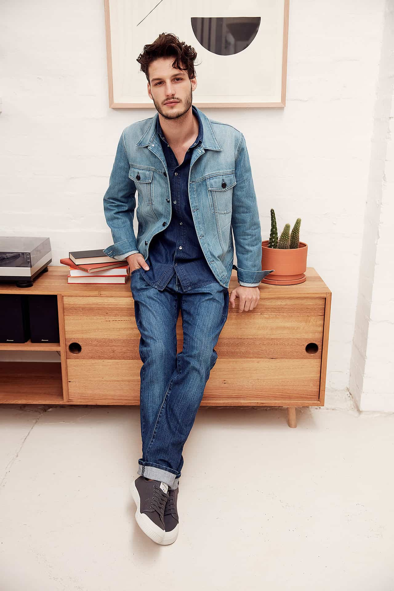 MEN: Elah Jacket Light Indigo (DSMJKT10003.S.4), Nixon Shirt Dark Indigo (MSH9006.S.10) and Quinn Jean Pure Indigo (DSMJ3008.R.8)