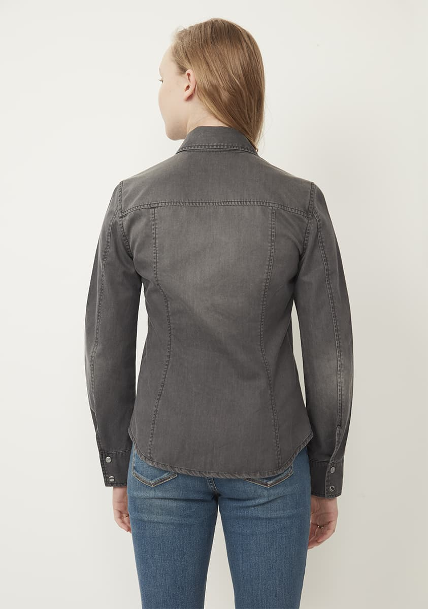 DREW Shirt-Washed Grey