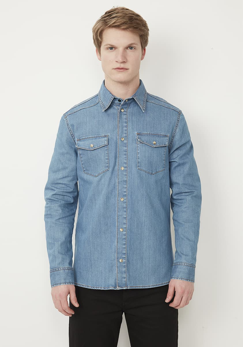 TEX Shirt-Light Indigo