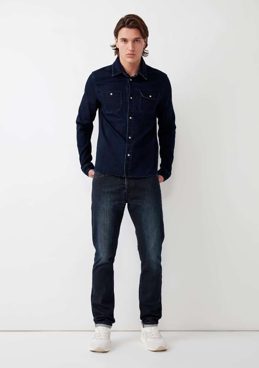 SAMSON Shirt-Blue
