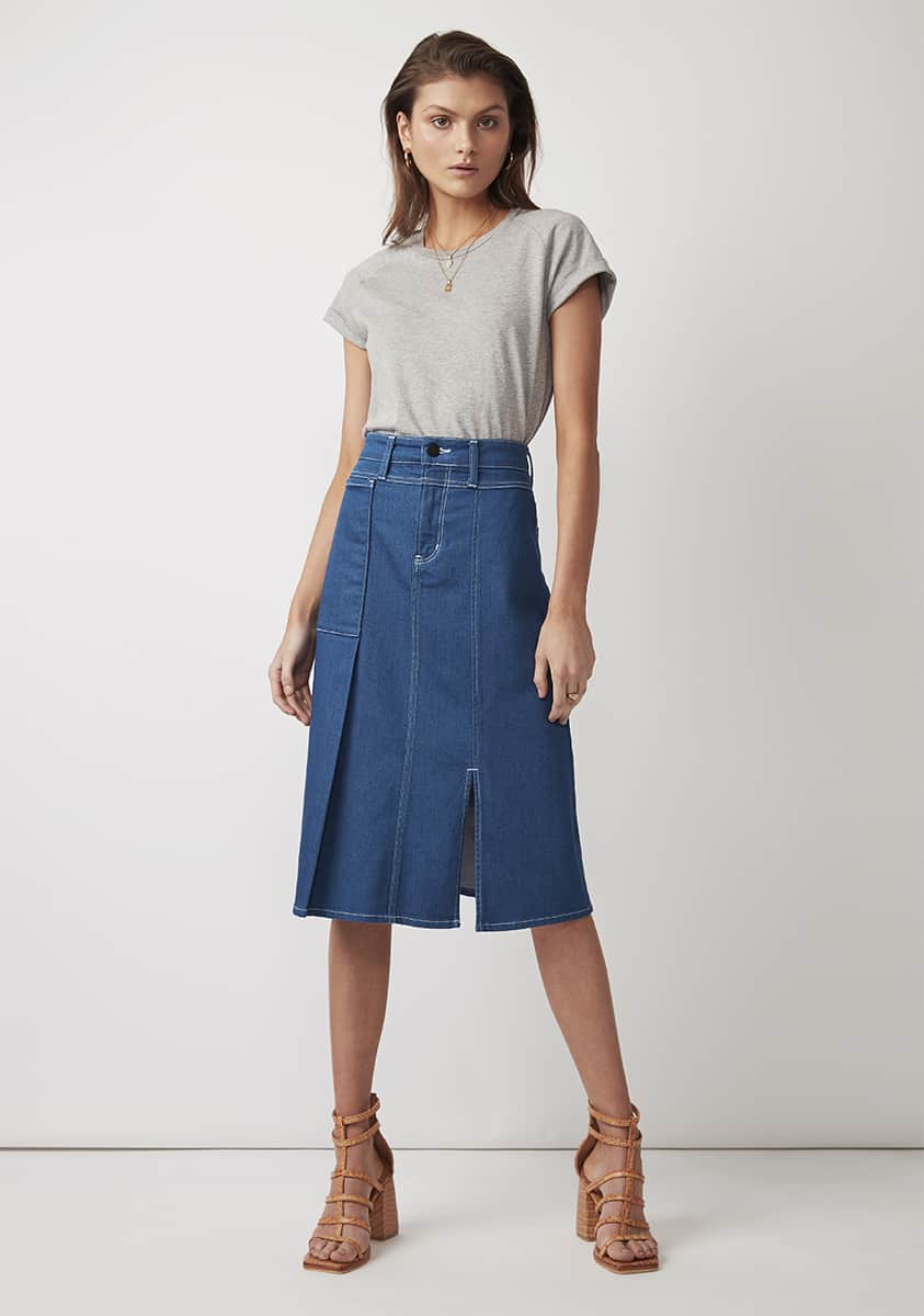 NEISHA Skirt – Light Indigo